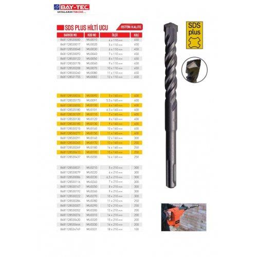 BAY-TEC SDS PLUS HİLTİ UCU 9x160 MM (MU0130)