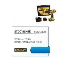 Darbeli matkap, 2 akü, kitbox 18v li-ion 2.0 ah - STANLEY