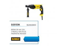 Sds-plus pnömatik matkap 800w 26mm 2.6j 3 modlu - DEWALT