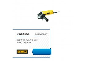 Avuç taşlama 800w 115 mm no-volt - DEWALT