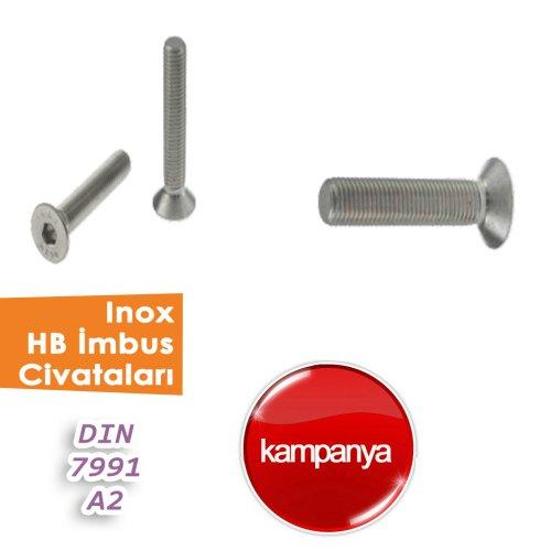 İnox HB İmbus Civatalar Din 7991 / A2