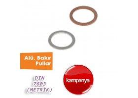 Alüminyum ve Bakır Pullar DİN 7603 ( Metrik )