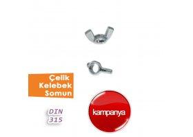 Çelik Klebek Somun DIN 315