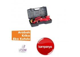 2 Ton Arabalı Kriko EKO Plastik Kutulu ( BİG RED )