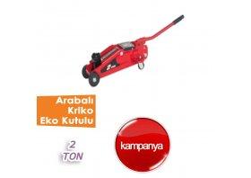 2 Ton Arabalı Kriko EKO Kartton Kutulu ( BİG RED )