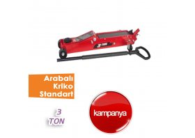 3 Ton Arabalı Kriko Standart ( BİG RED )