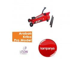 3 Ton Arabalı Kriko Pro Model ( BİG RED )