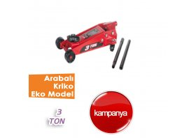 3 Ton Arabalı Kriko Eko Model ( BİG RED )