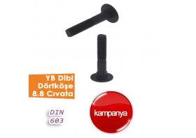 YB Dibi Dörtköşe 8.8 Cıvata DIN 603